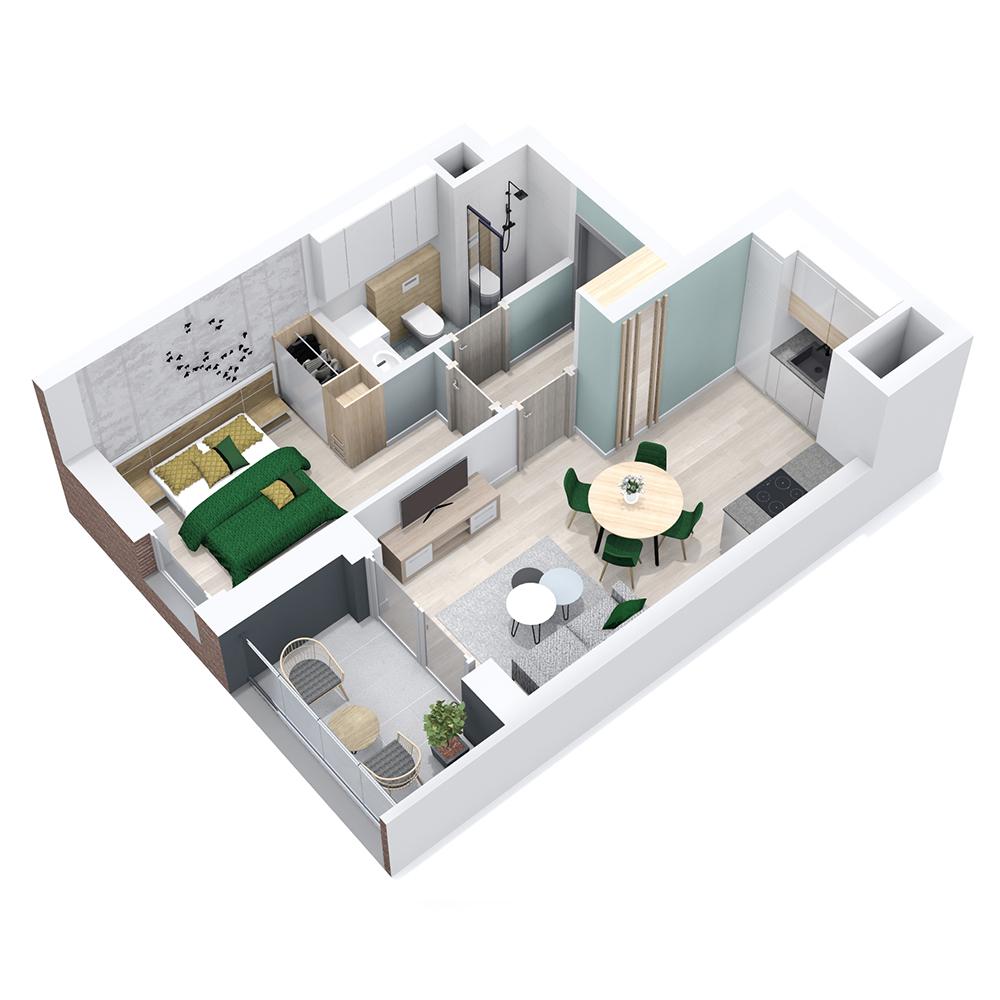 Mieszkanie 2-pokojowe PP-8B-79