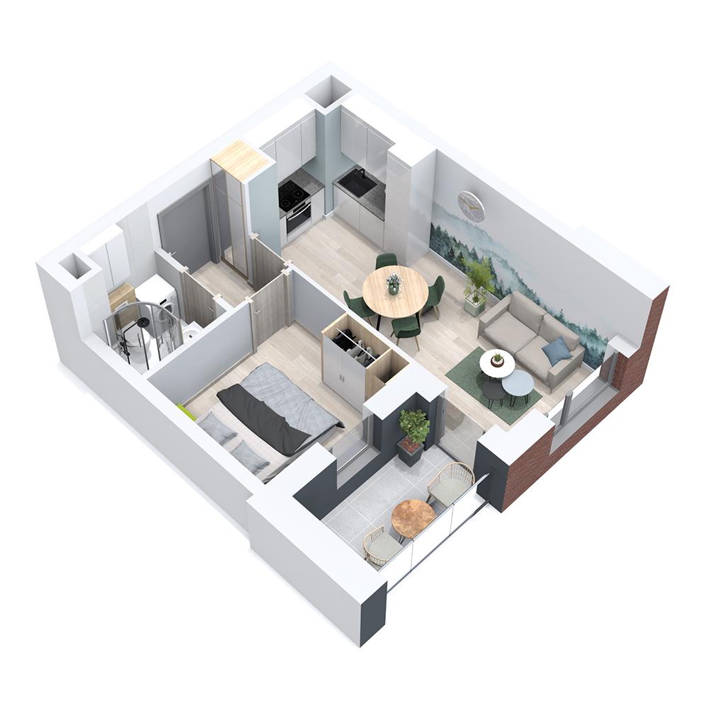 Mieszkanie 2-pokojowe PP-8B-6