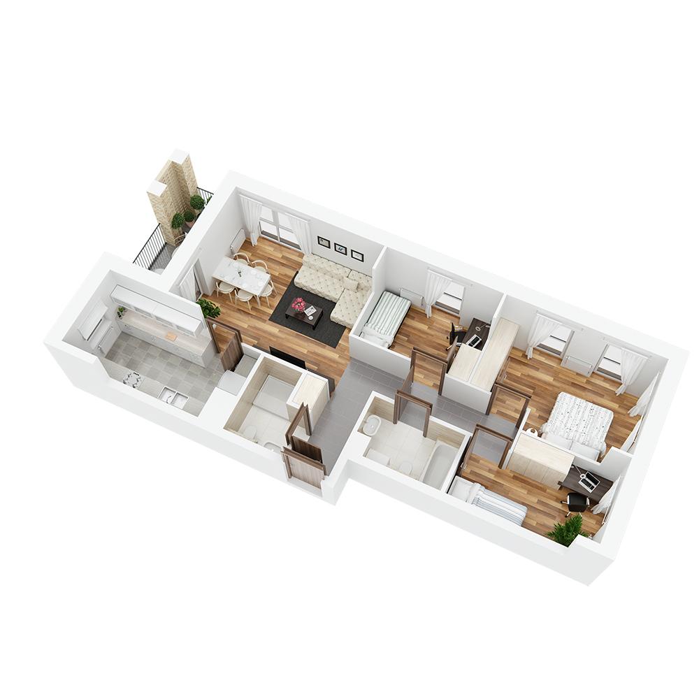 Mieszkanie 4-pokojowe PP-26-13