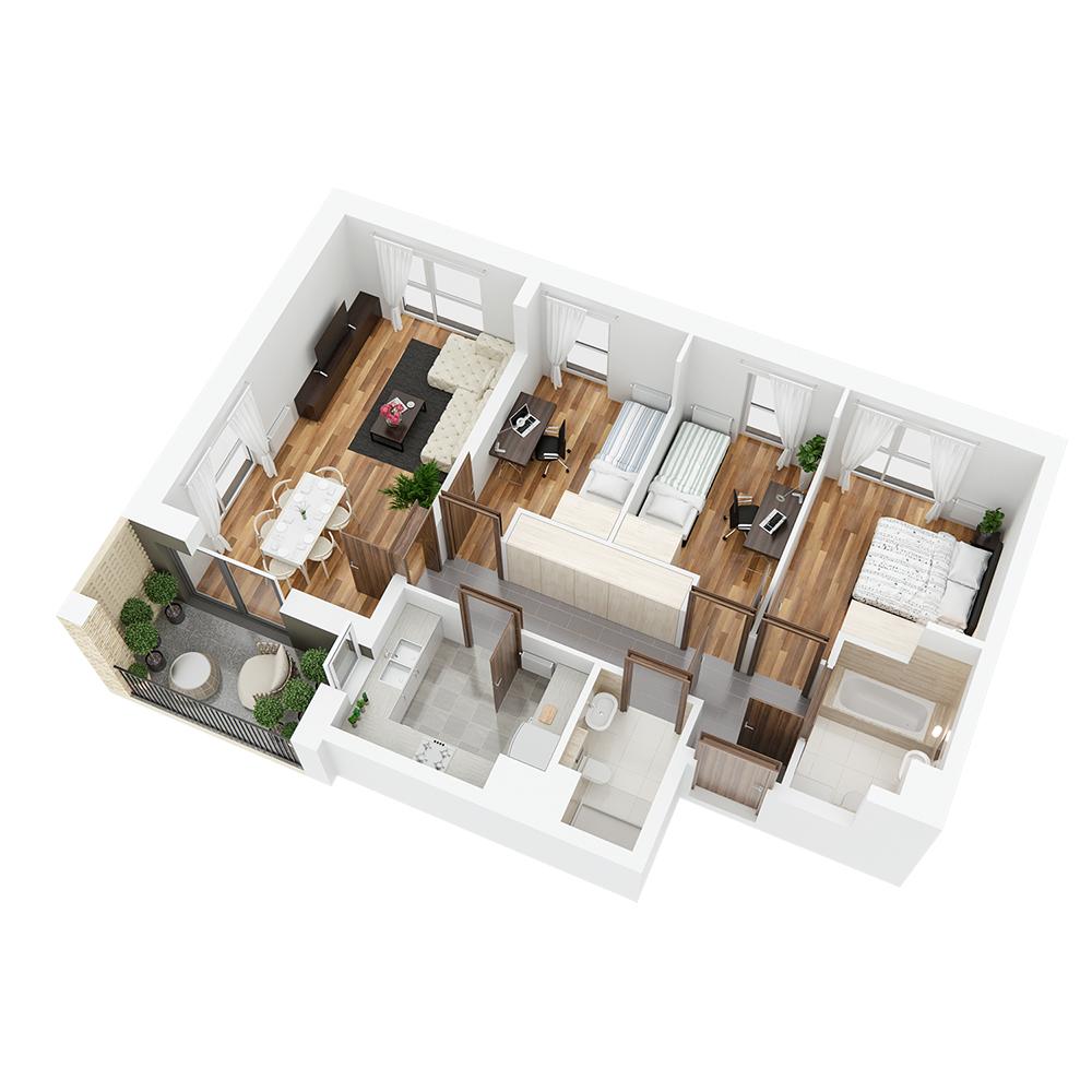 Mieszkanie 4-pokojowe PP-26-91