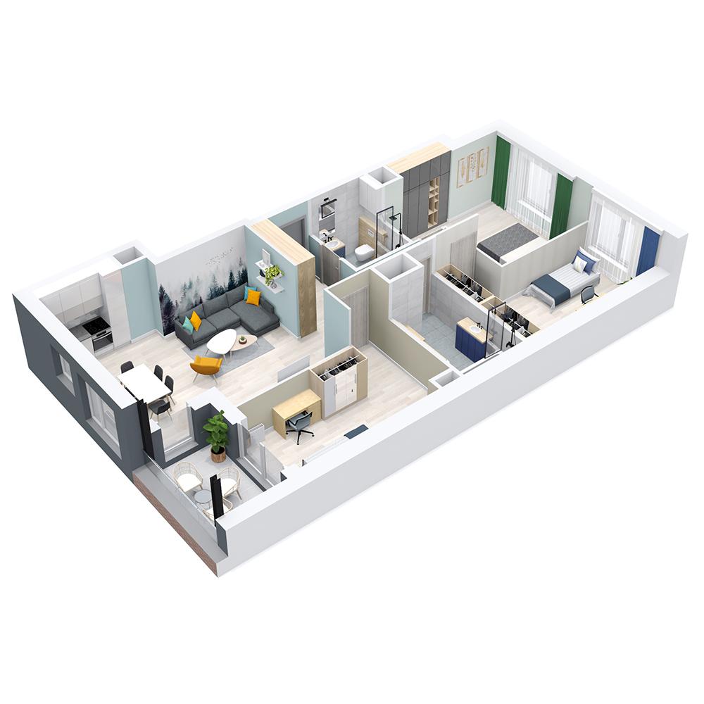 Mieszkanie 4-pokojowe PP-8C-87