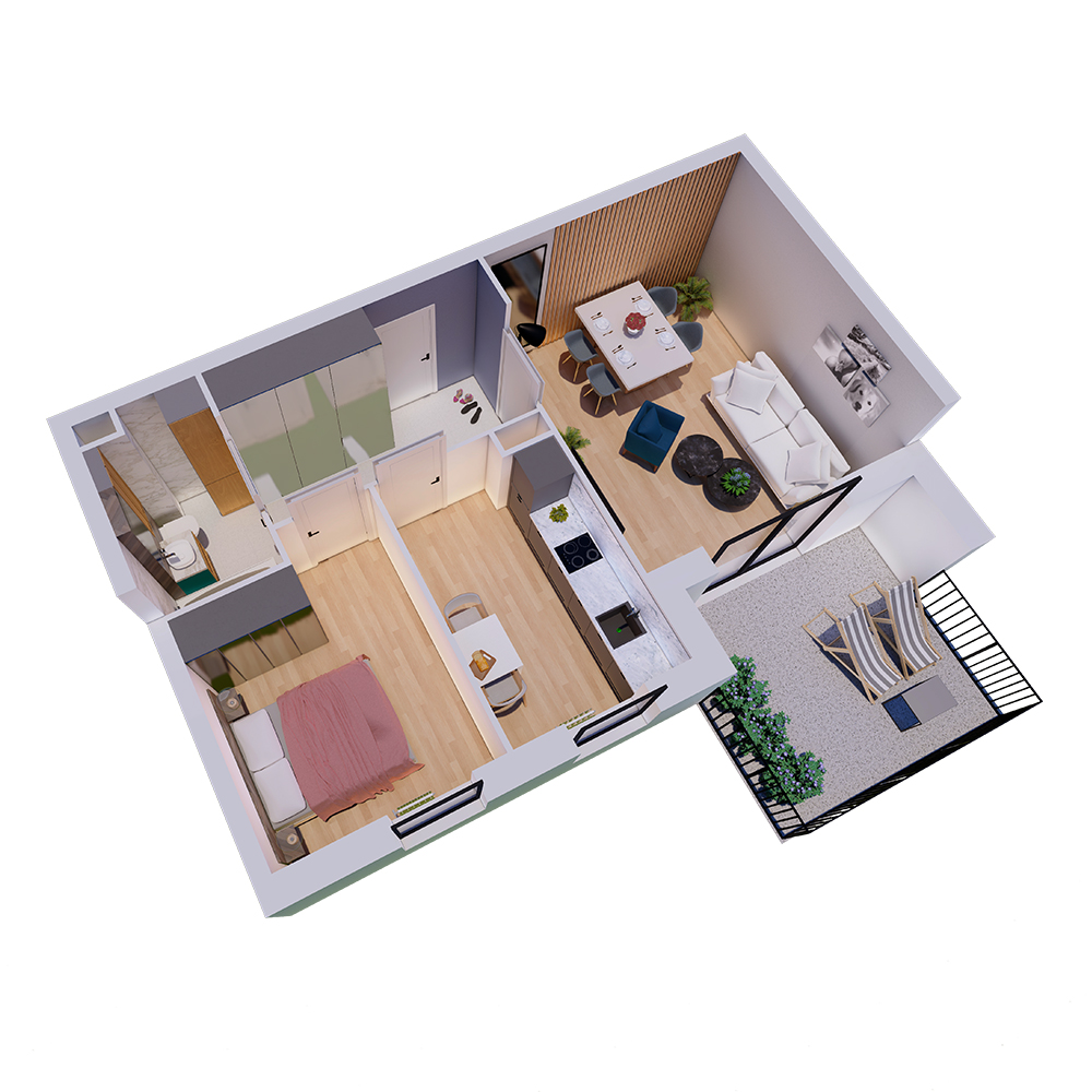 Mieszkanie 2-pokojowe R-A-76