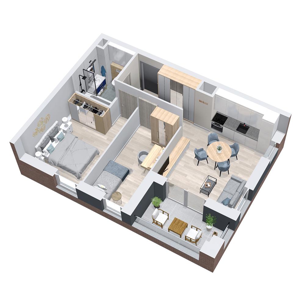 Mieszkanie 3-pokojowe PP-8B-8