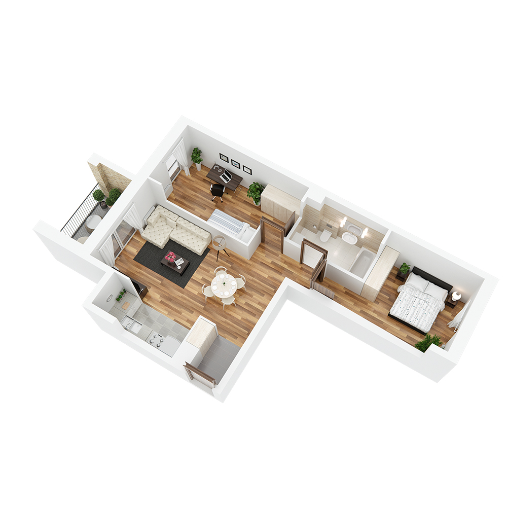 Mieszkanie 3-pokojowe PP-24-43
