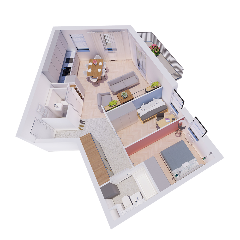 Mieszkanie 3-pokojowe R-A-24