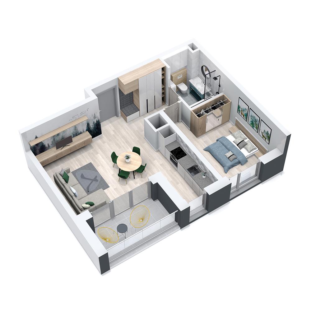 Mieszkanie 2-pokojowe PP-8C-8