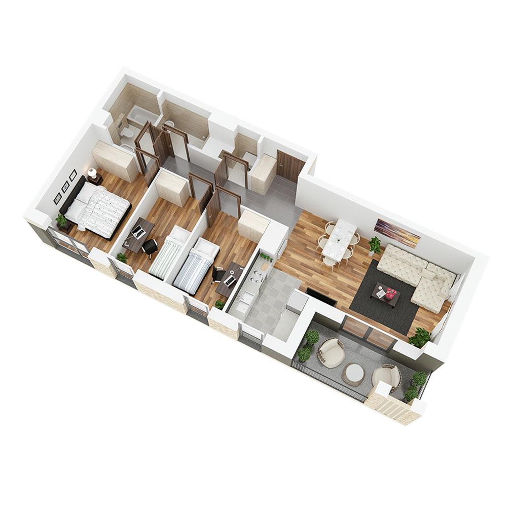 Mieszkanie 4-pokojowe PP-24-4