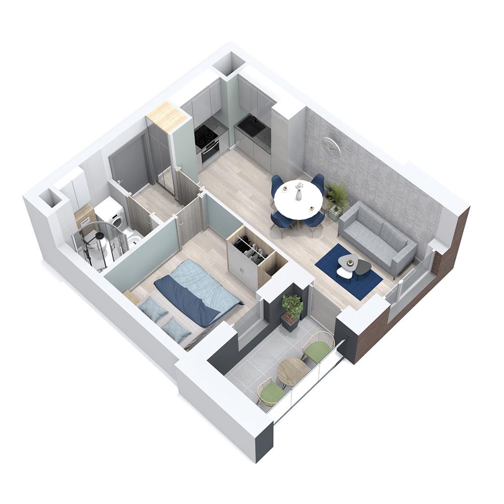 Mieszkanie 2-pokojowe PP-8B-41