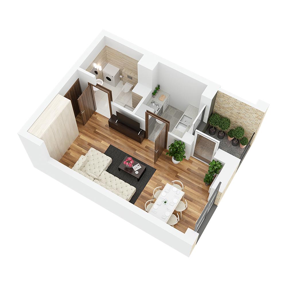 Mieszkanie 1-pokojowe PP-26-89