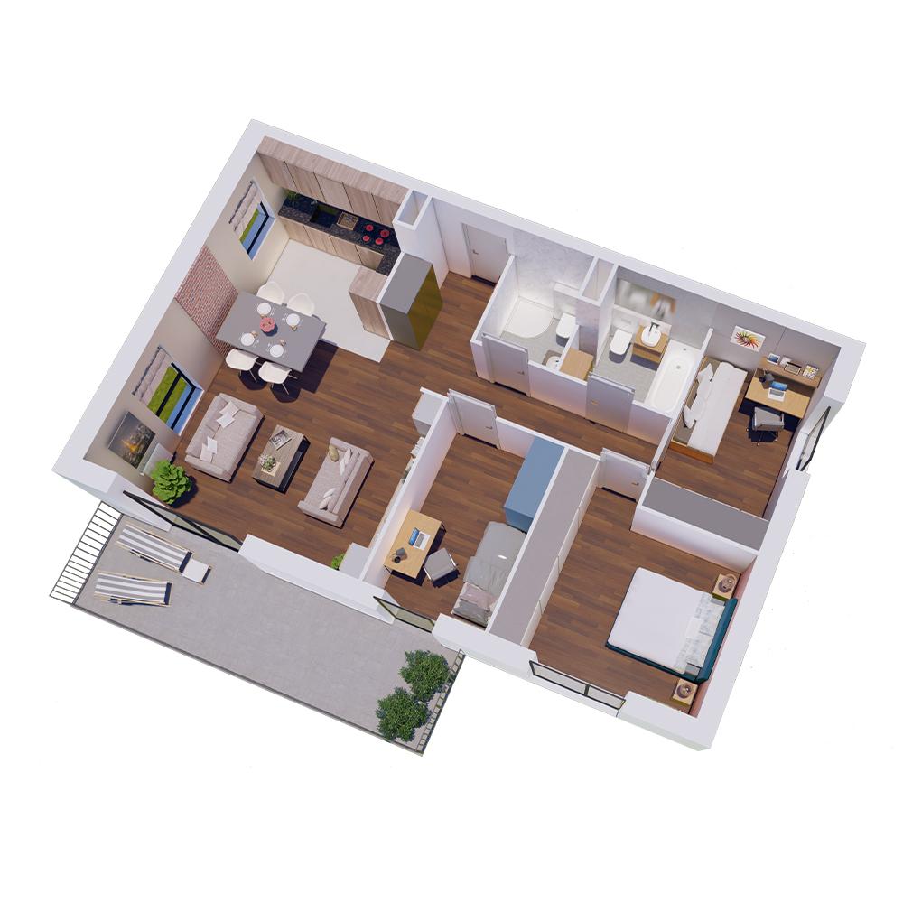 Mieszkanie 4-pokojowe R-A-92