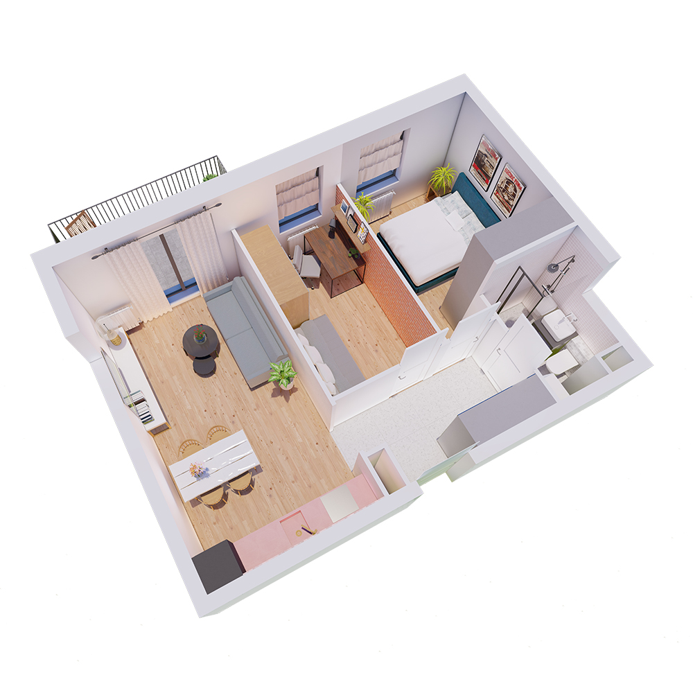 Mieszkanie 3-pokojowe R-A-4