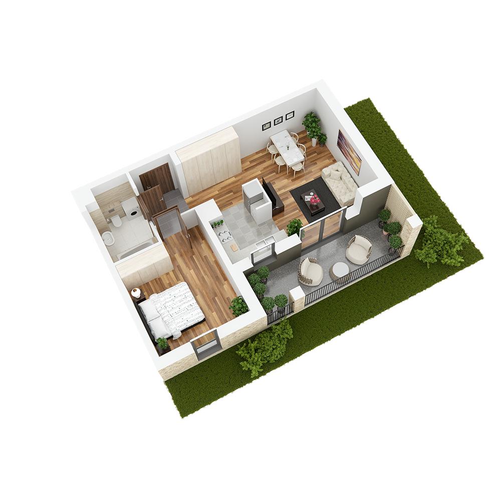Mieszkanie 2-pokojowe PP-24-74