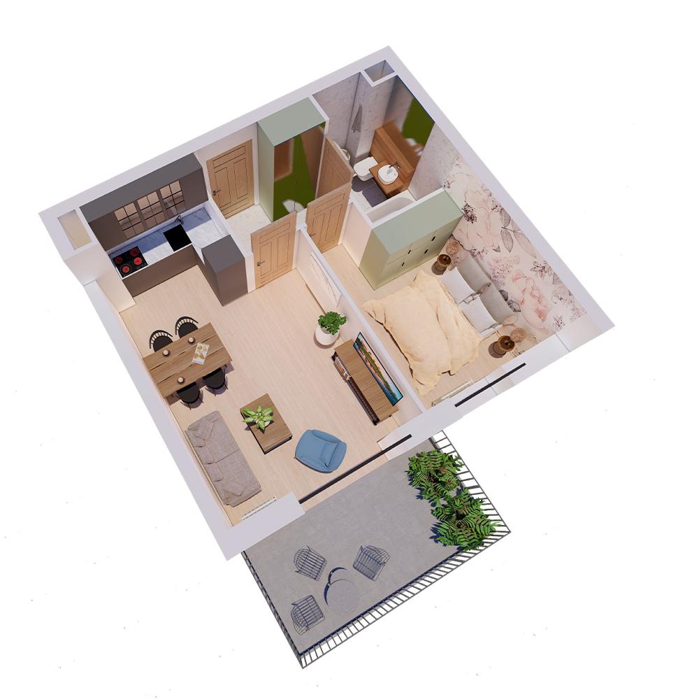 Mieszkanie 2-pokojowe R-A-91