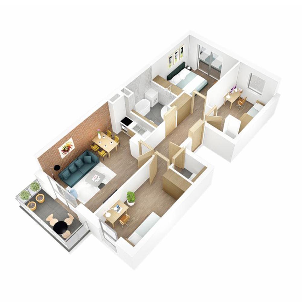 Mieszkanie 4-pokojowe OU-4-18