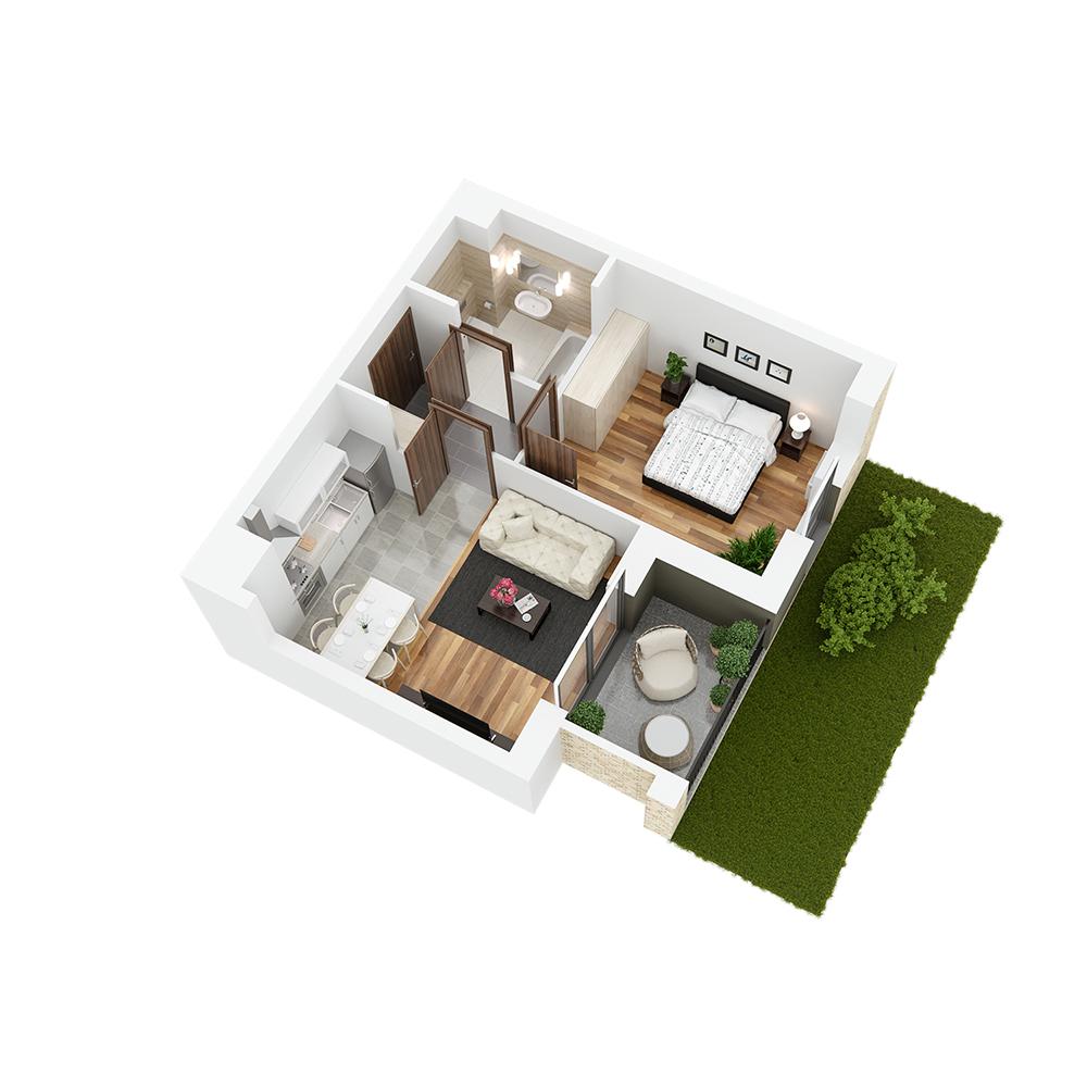 Mieszkanie 2-pokojowe PP-26-2