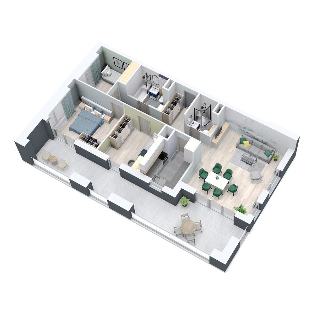 Mieszkanie 4-pokojowe PP-8C-24
