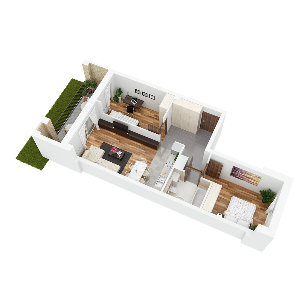 Mieszkanie 3-pokojowe PP-26-76