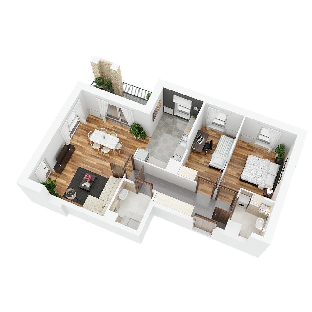 Mieszkanie 3-pokojowe PP-24-53