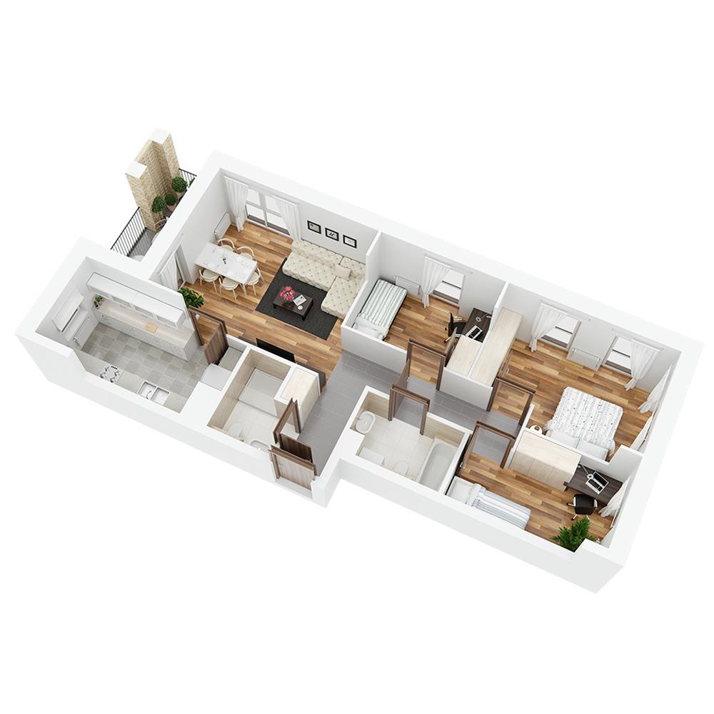 Mieszkanie 4-pokojowe PP-26-10