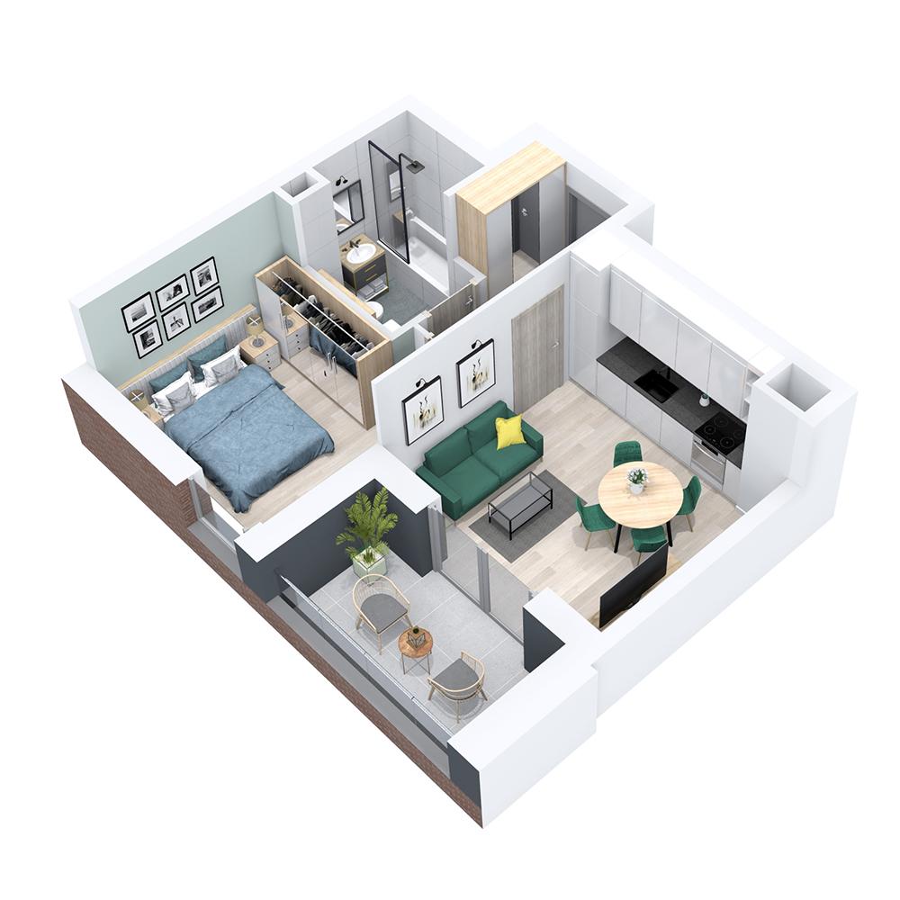 Mieszkanie 2-pokojowe PP-8B-28