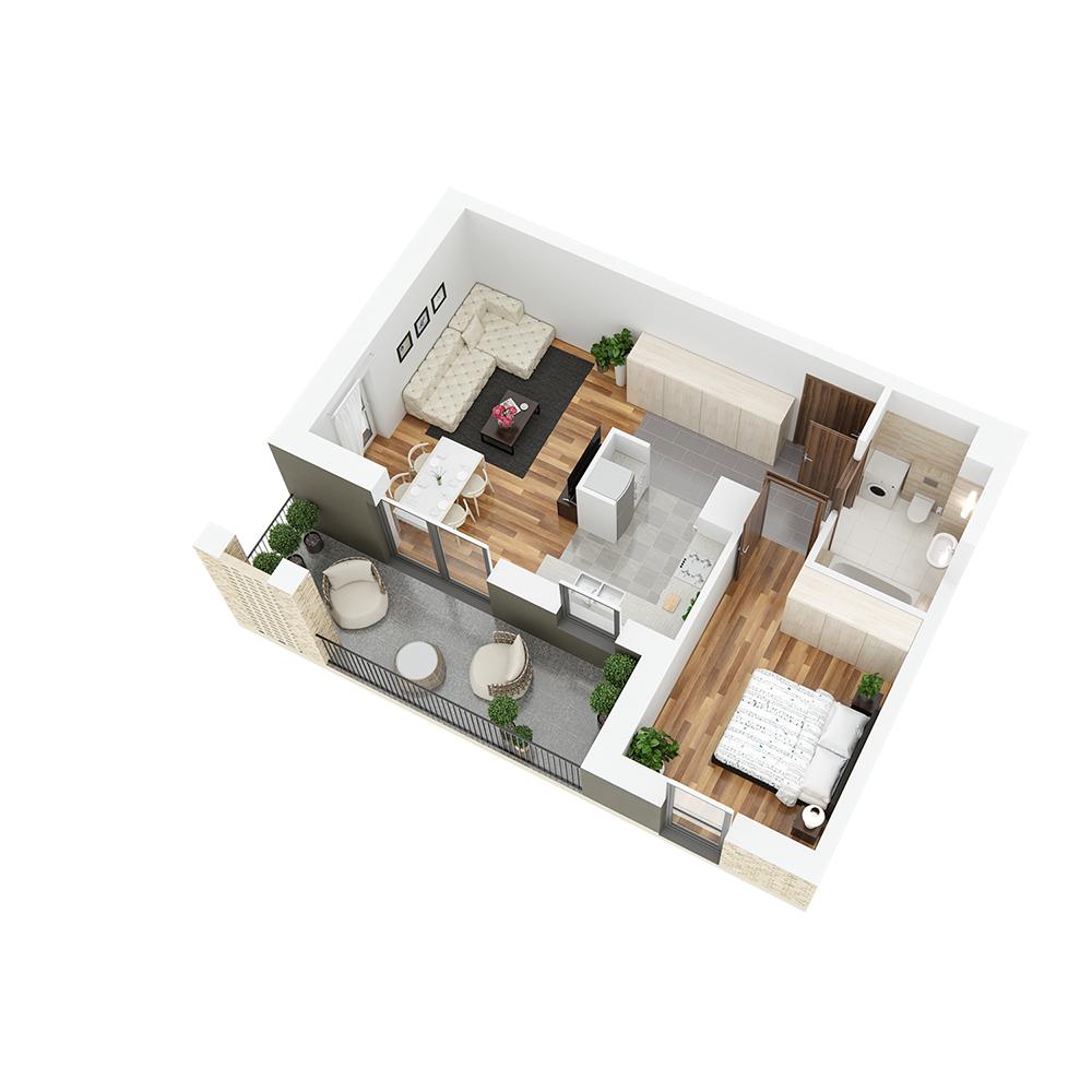 Mieszkanie 2-pokojowe PP-26-86