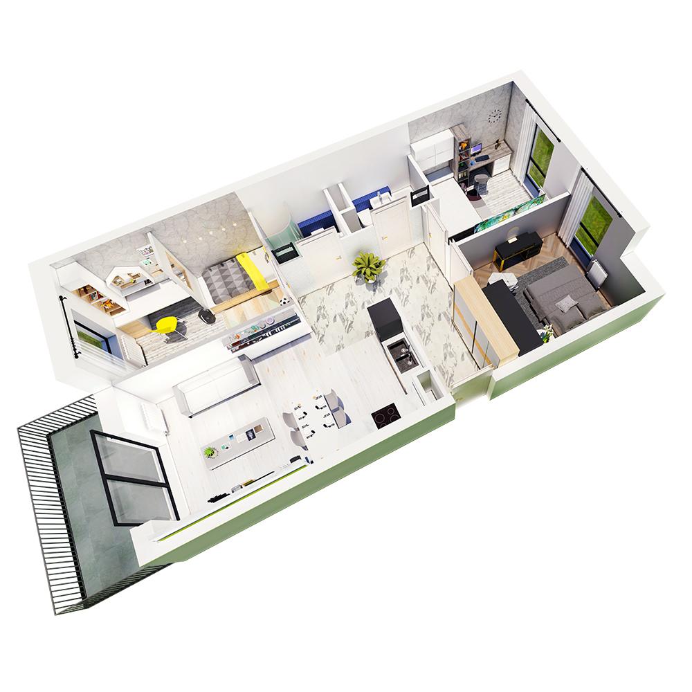 Mieszkanie 4-pokojowe R-A-61