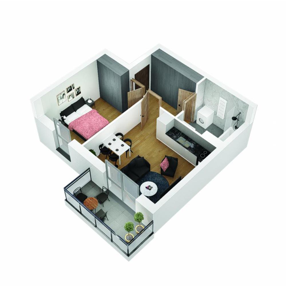 Mieszkanie 2-pokojowe OU-5-16