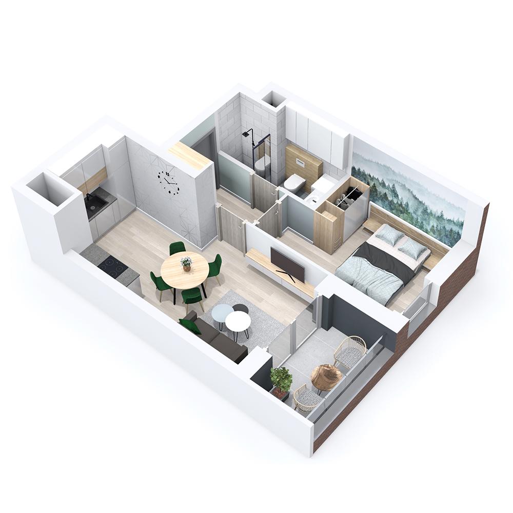 Mieszkanie 2-pokojowe PP-8B-11
