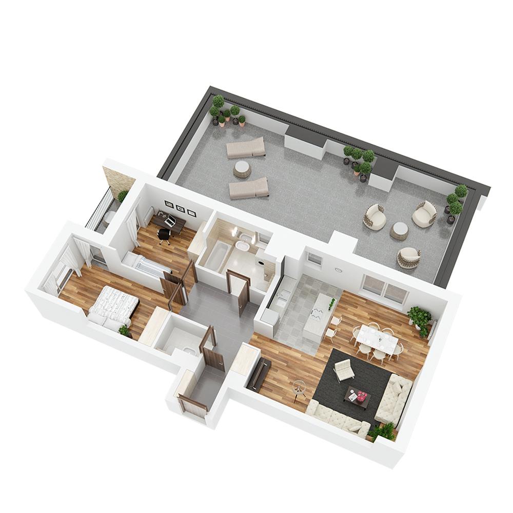 Mieszkanie 3-pokojowe PP-24-31