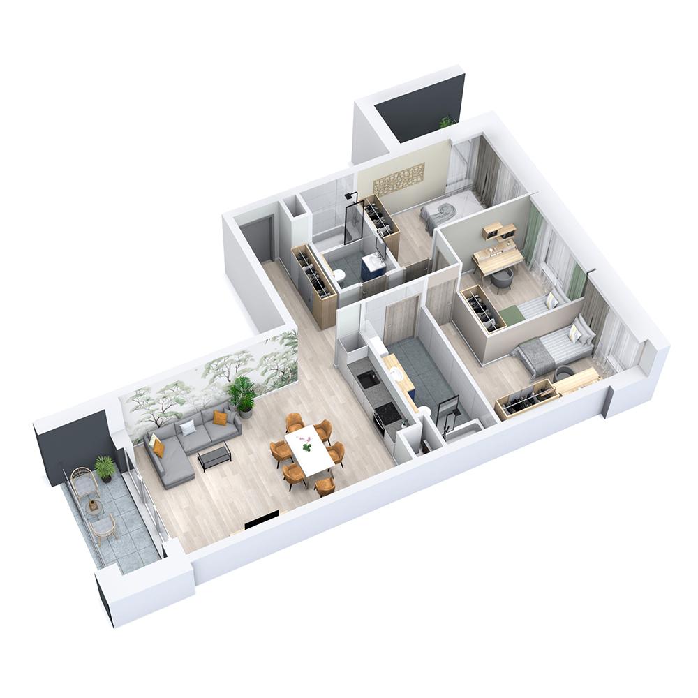 Mieszkanie 4-pokojowe PP-8C-1