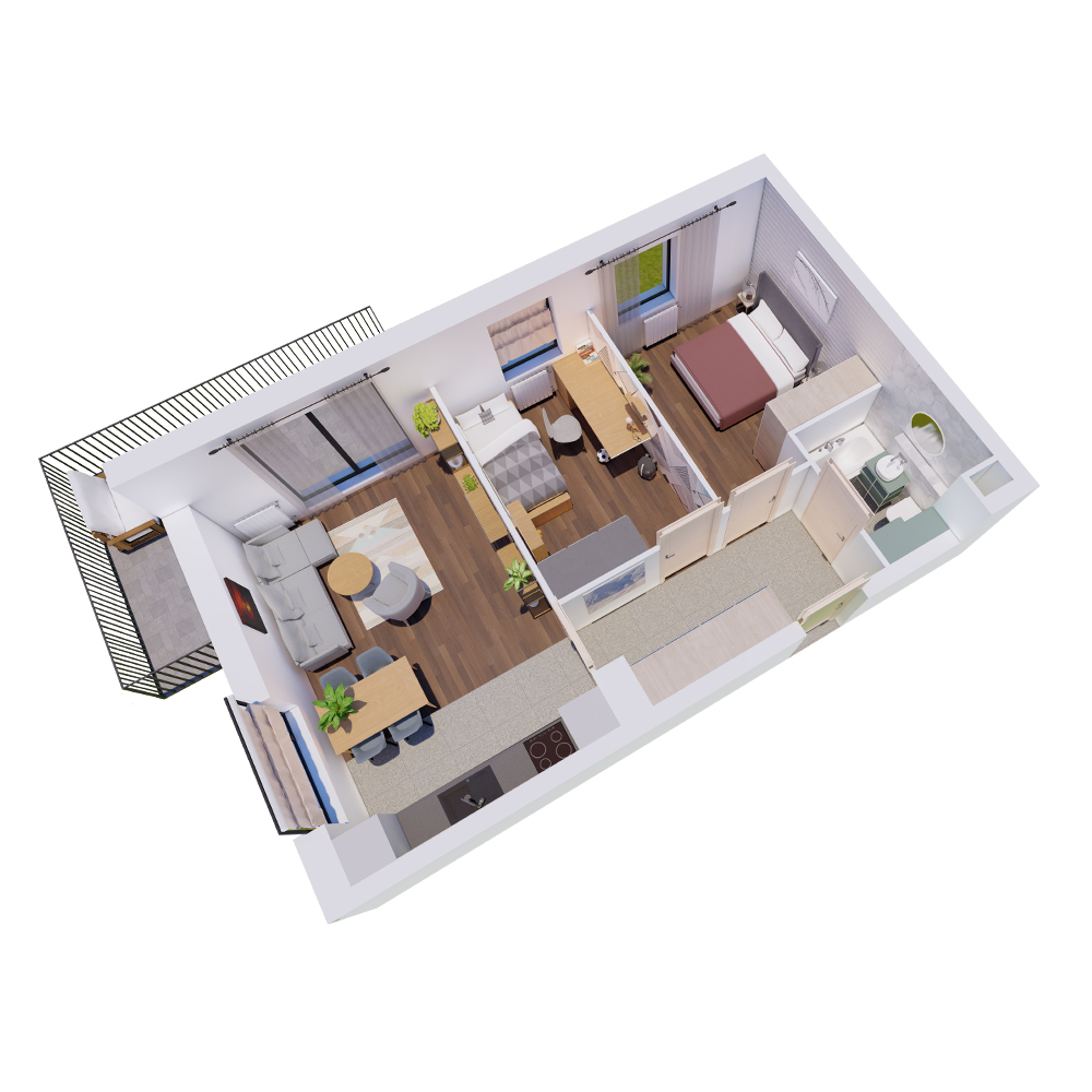 Mieszkanie 3-pokojowe R-A-21