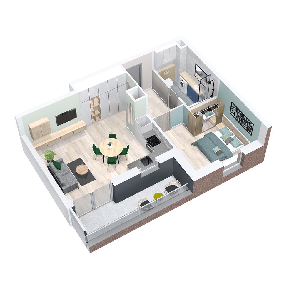 Mieszkanie 3-pokojowe PP-8C-97