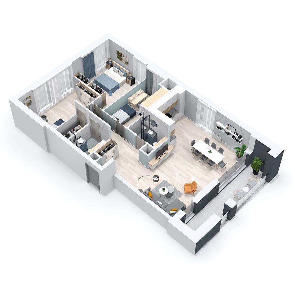 Mieszkanie 4-pokojowe PP-8C-30