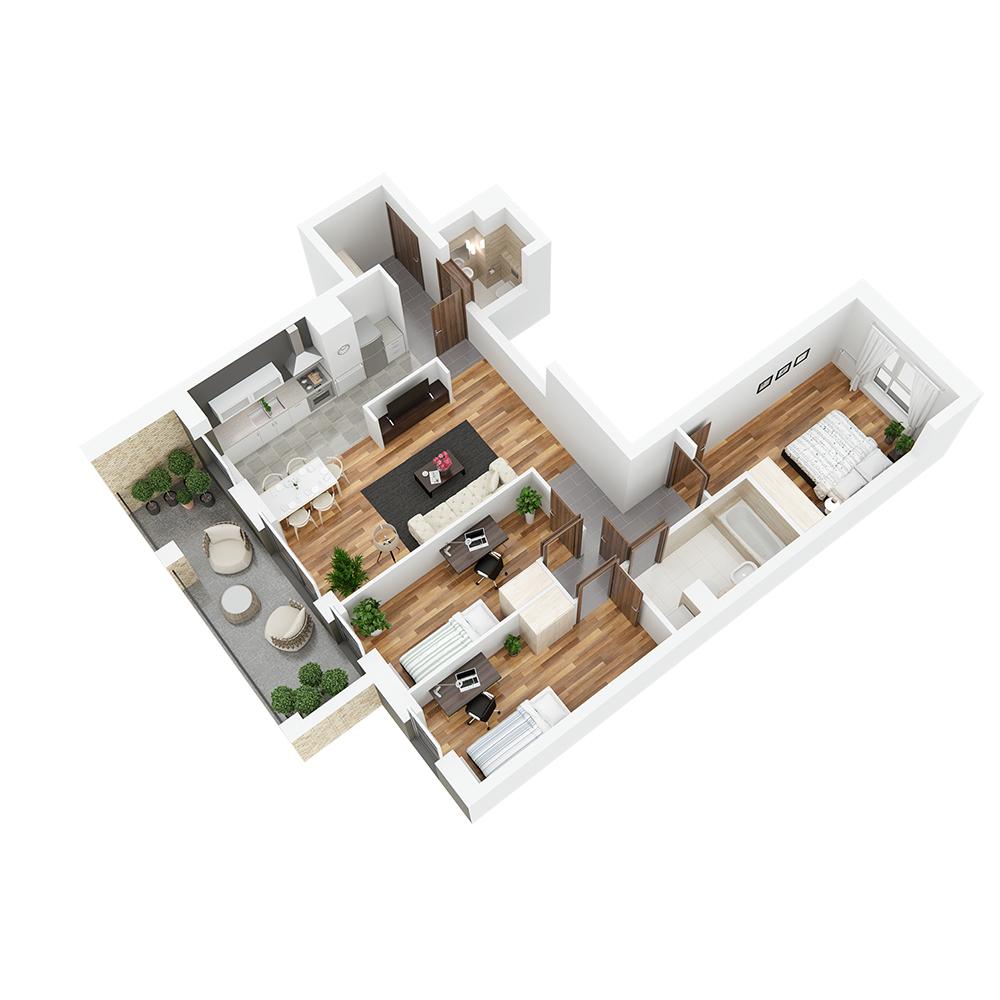 Mieszkanie 4-pokojowe PP-24-52