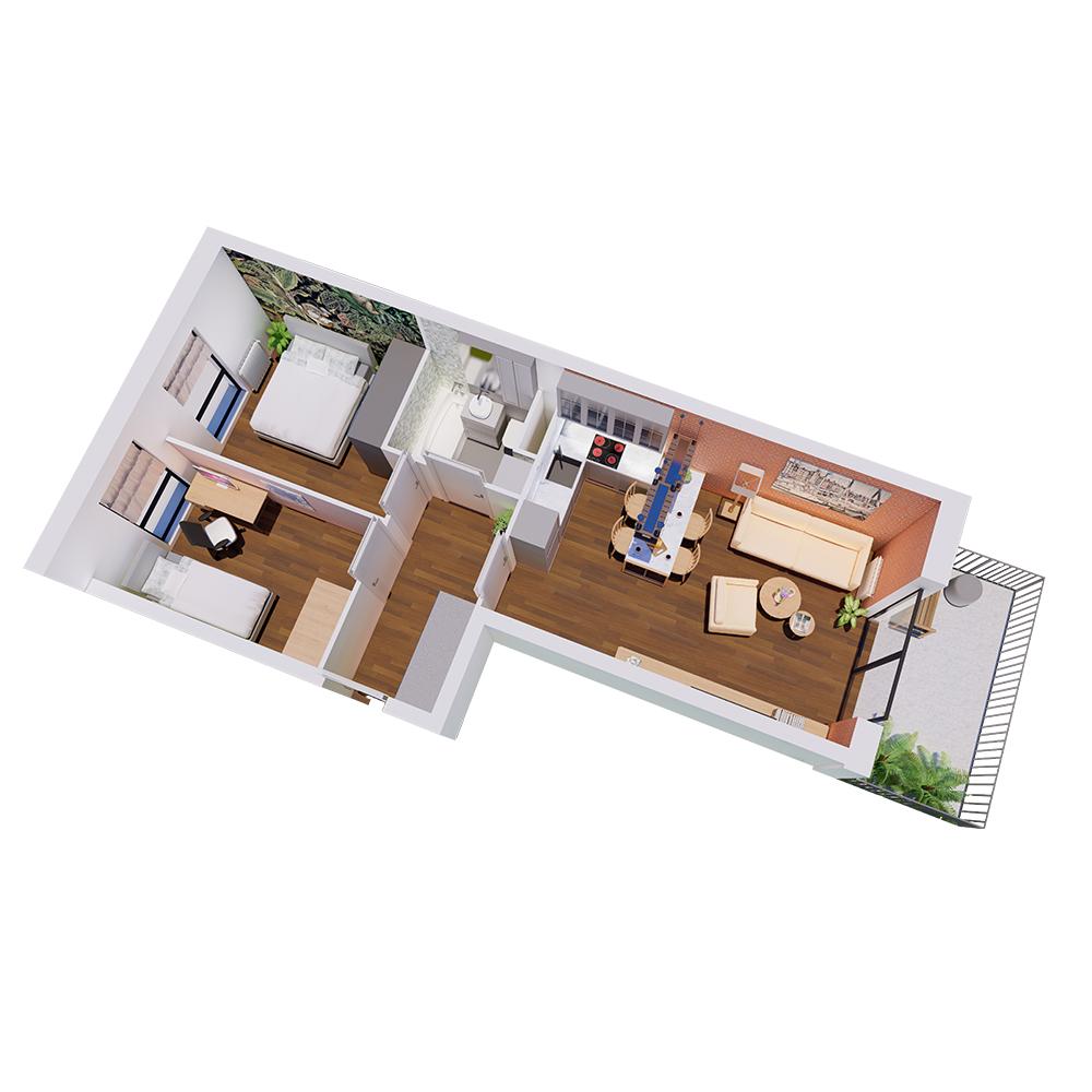 Mieszkanie 3-pokojowe R-A-90