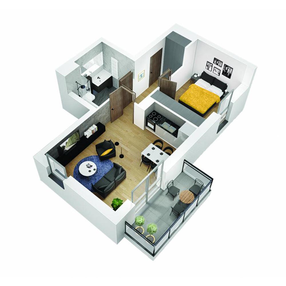 Mieszkanie 2-pokojowe OU-4-1