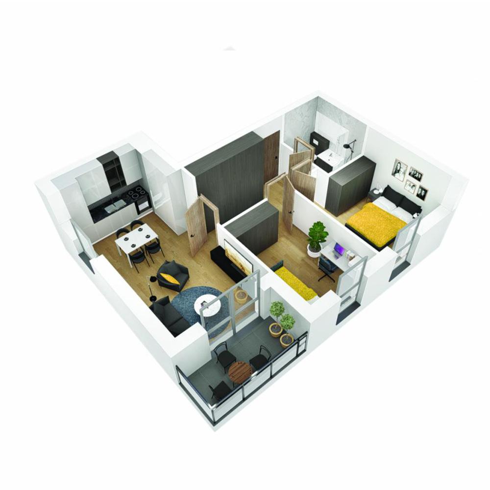 Mieszkanie 3-pokojowe OU-5-30