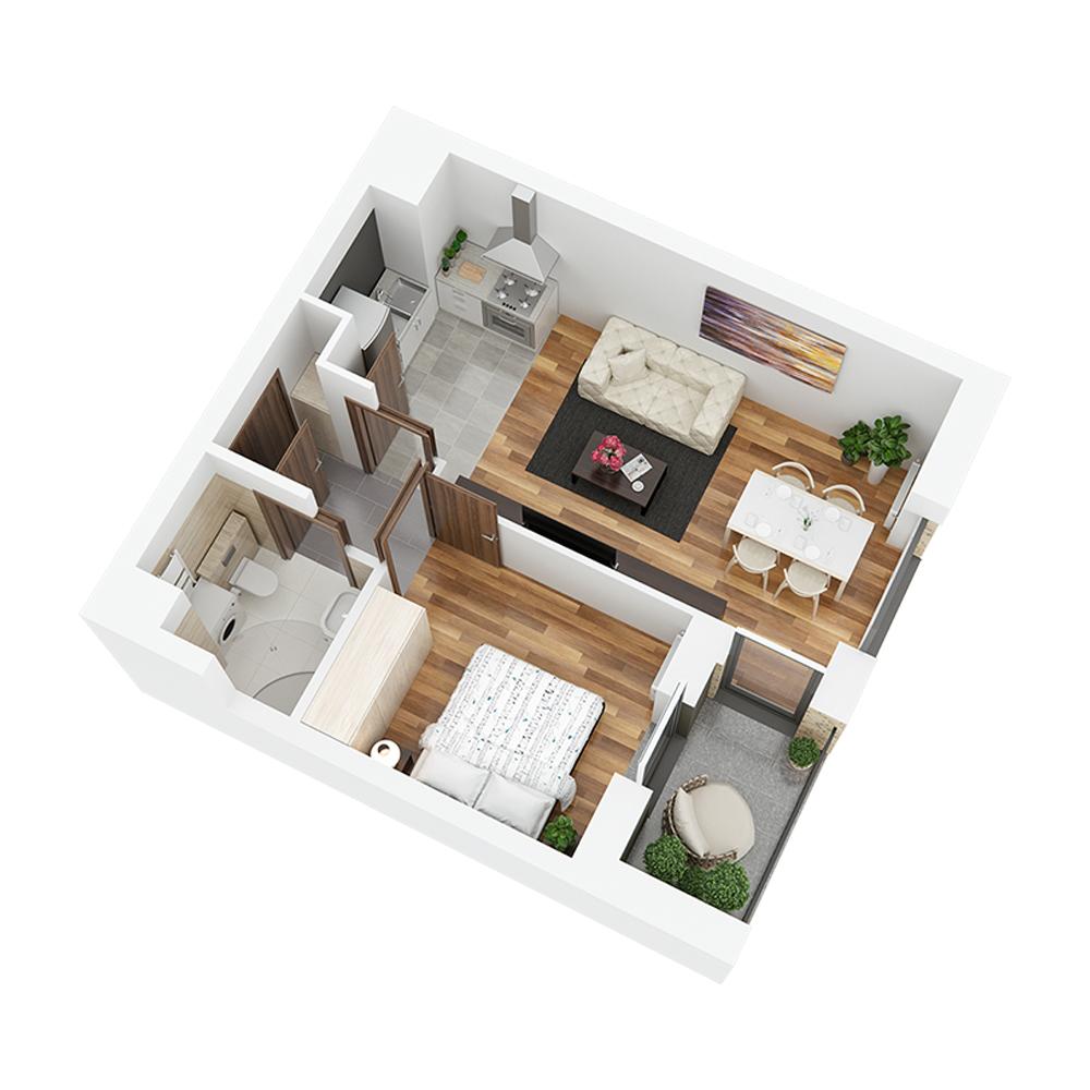Mieszkanie 2-pokojowe PP-24-11