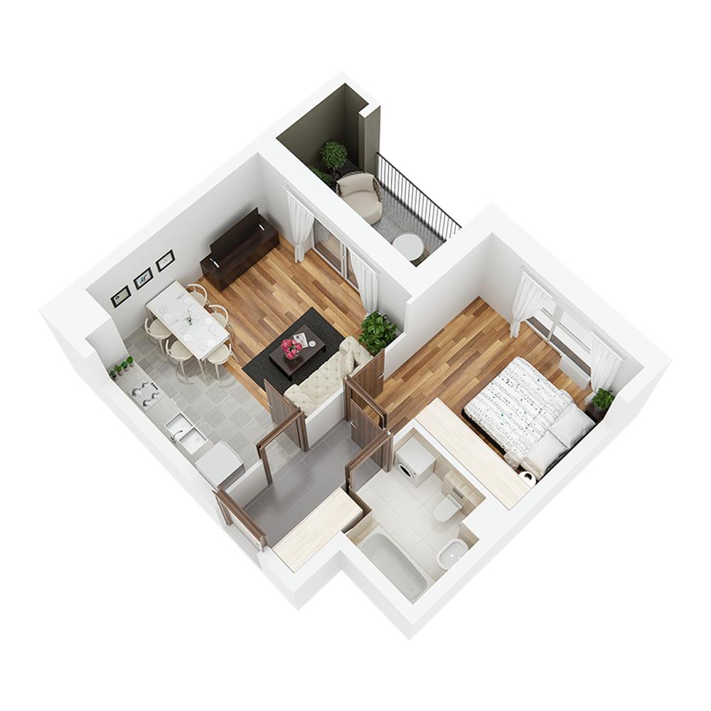 Mieszkanie 2-pokojowe PP-24-13