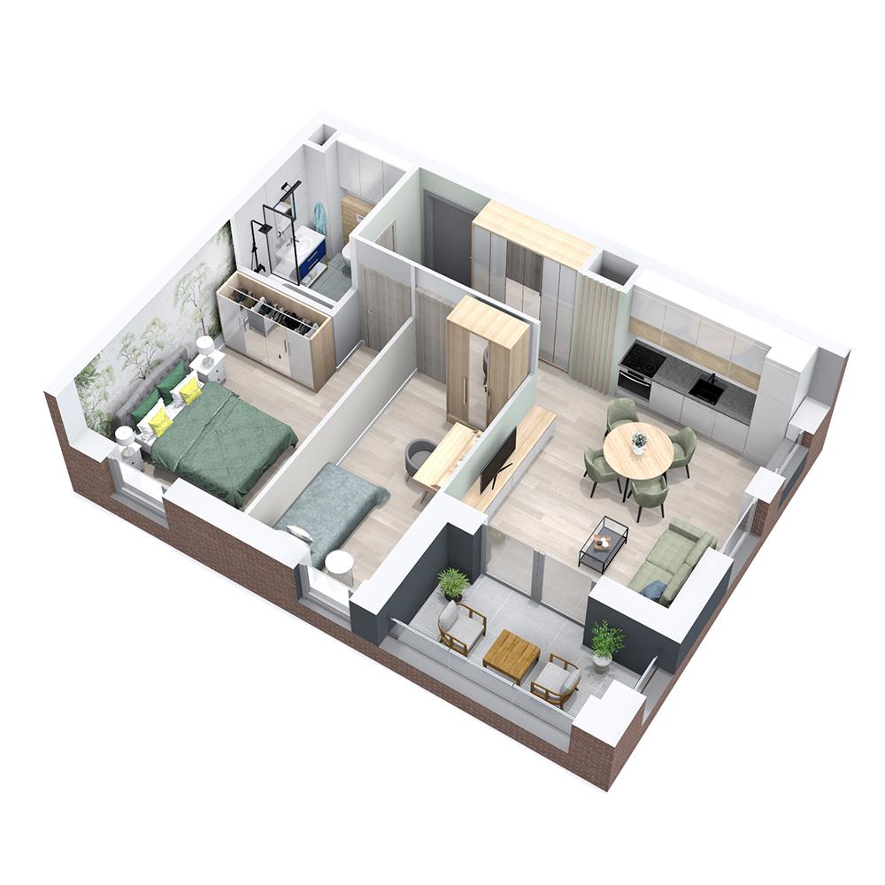Mieszkanie 3-pokojowe PP-8B-29