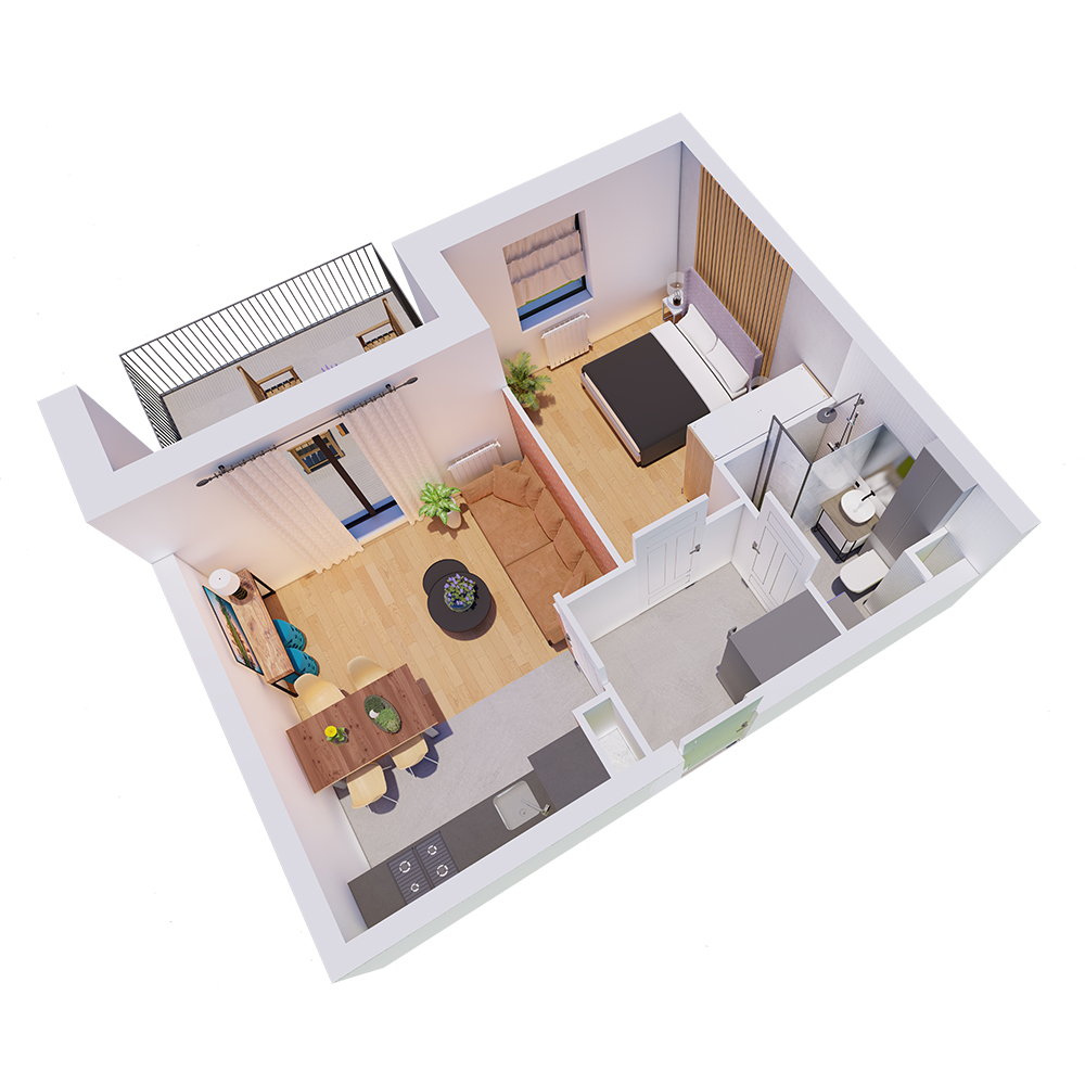 Mieszkanie 2-pokojowe R-A-5