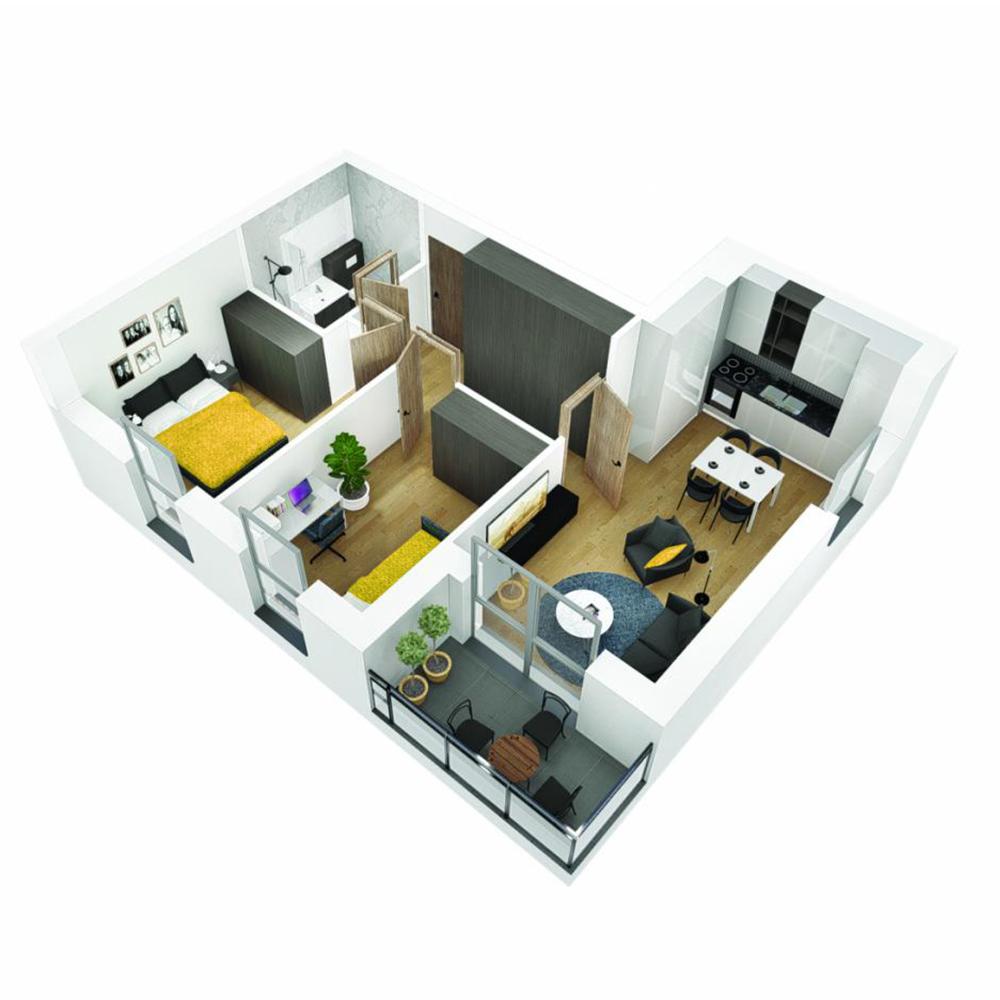 Mieszkanie 3-pokojowe OU-6-7