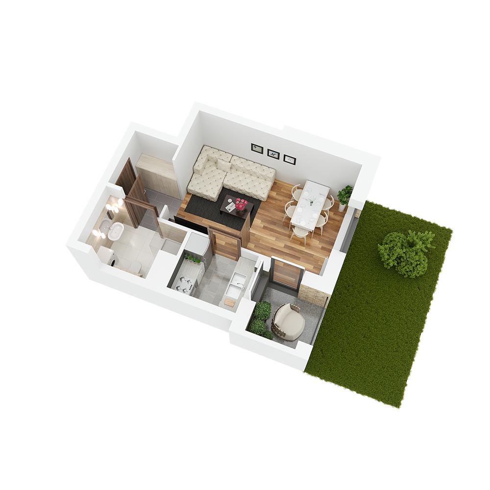 Mieszkanie 1-pokojowe PP-26-26