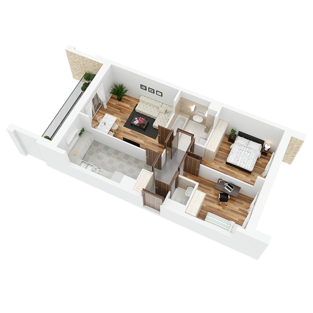 Mieszkanie 3-pokojowe PP-26-58