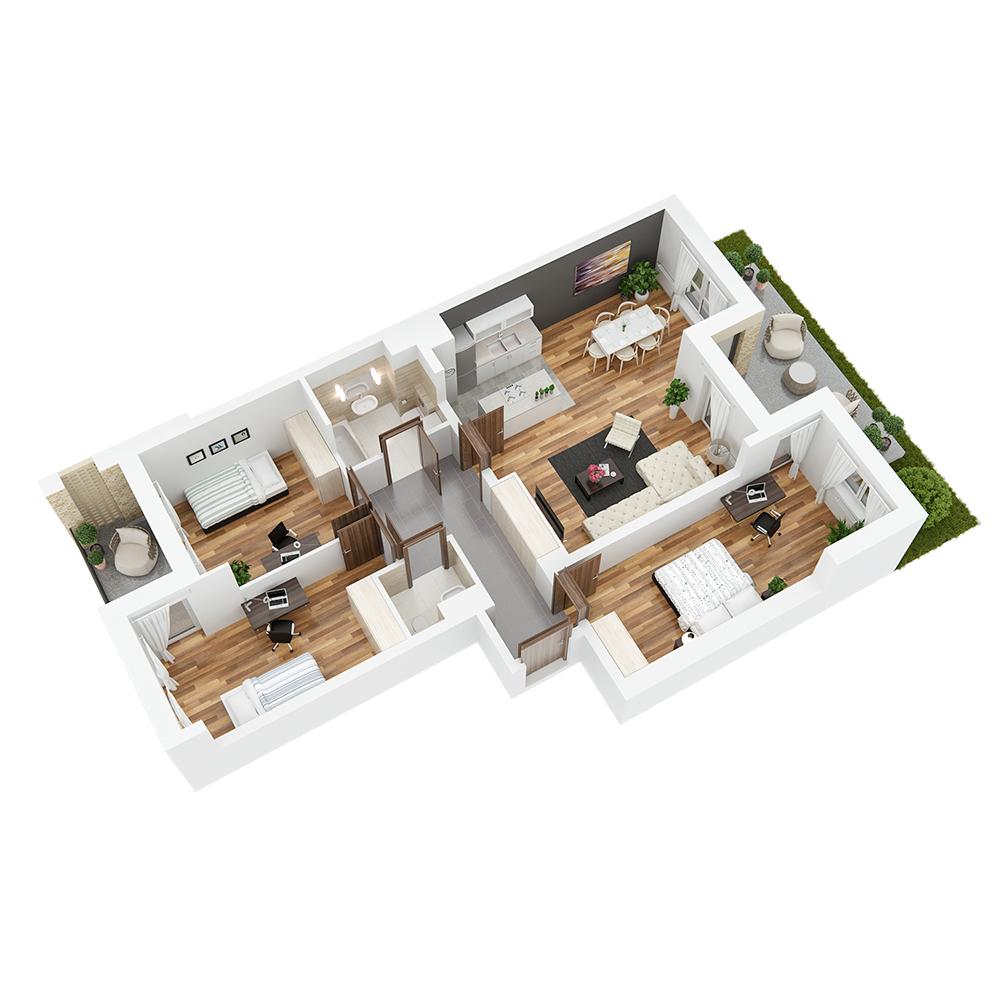 Mieszkanie 4-pokojowe PP-24-1