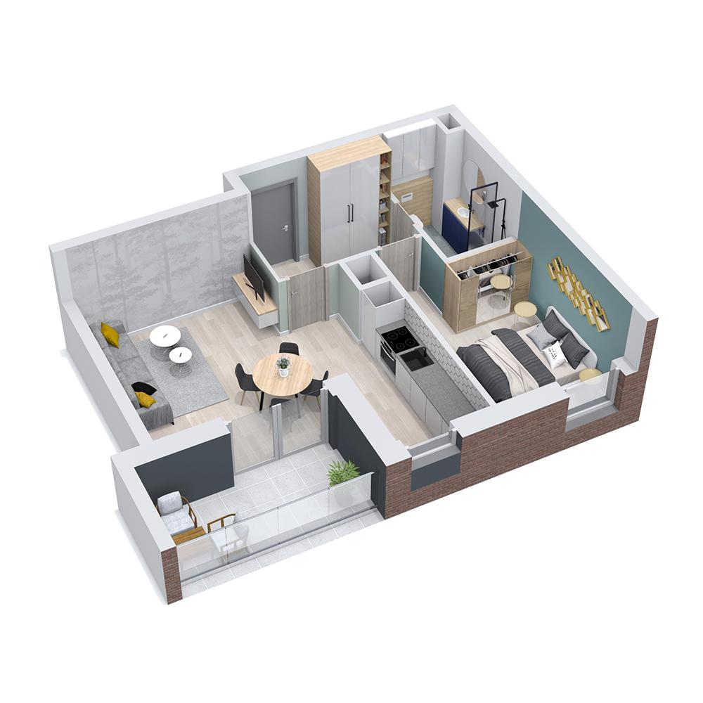 Mieszkanie 2-pokojowe PP-8C-74