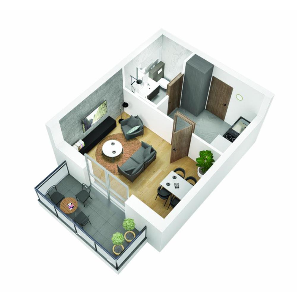Mieszkanie 1-pokojowe OU-4-17