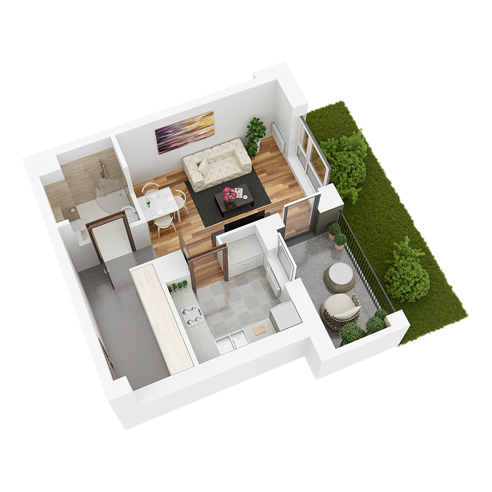 Mieszkanie 1-pokojowe PP-24-38