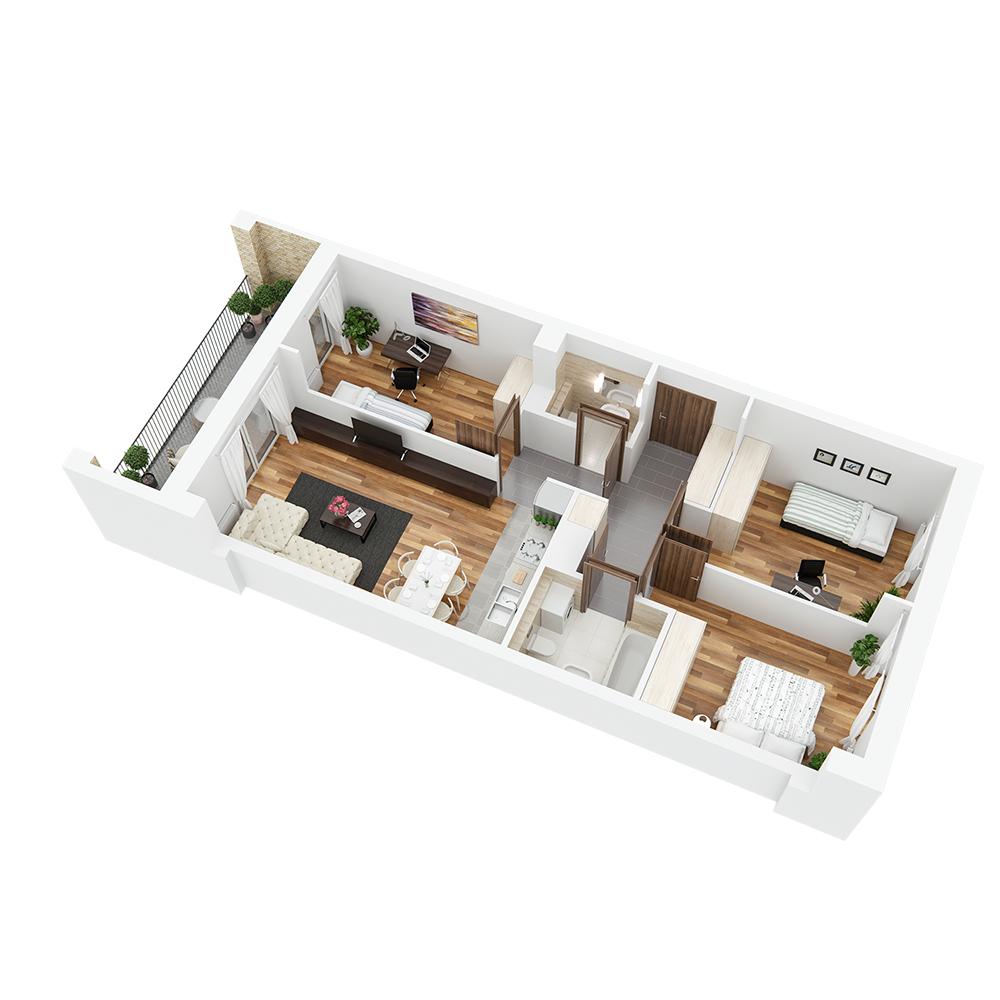 Mieszkanie 4-pokojowe PP-26-80
