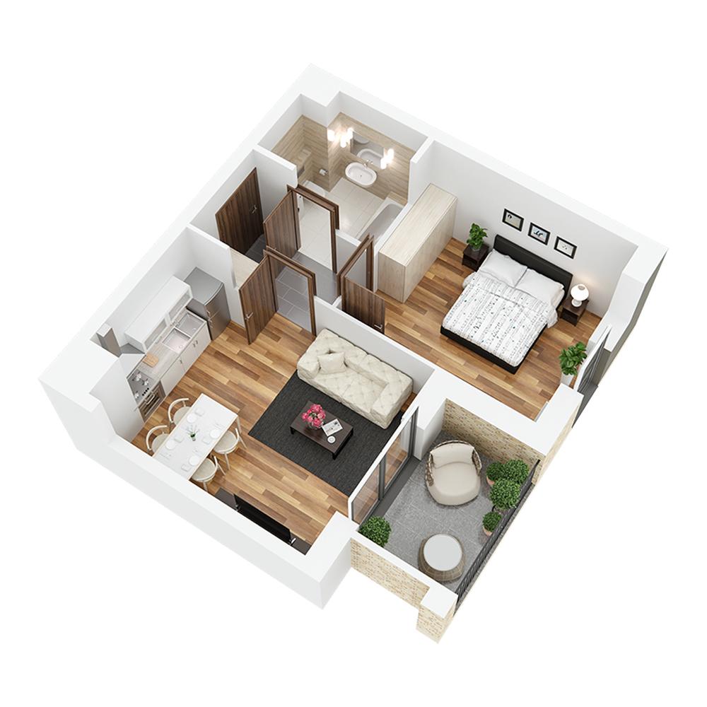 Mieszkanie 2-pokojowe PP-26-22